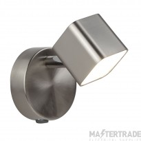 Searchlight 4231SS Quad One Light Wall Spotlight In Satin Silver And Glass