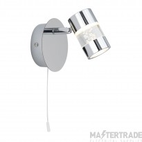 Searchlight 4411CC Bubbles Chrome LED Single IP44 Bathroom Wall Spotlight
