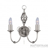 Searchlight 4489-2 Zanzibar Silver Wall Light