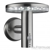 Searchlight 4774 30 LED Outdoor Mushroom Shaped Wall Light In Stainless Steel