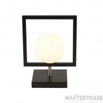 Searchlight 4830BK Rosewell 1 Light Table Lamp In Matt Black