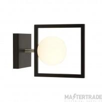 Searchlight 4831BK Rosewell 1 Light Wall Light In Matt Black