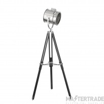 Searchlight 5015 1 Light Stage Light Floor Lamp In Chrome With Chrome Shade - Height: 1620mm