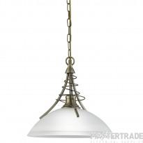 Searchlight 5224AB Linea Antique Brass Ceiling Pendant