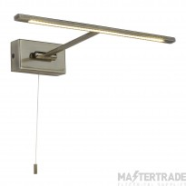 Searchlight 5586AB LED Picture Light In Antique Brass - Length: 360mm