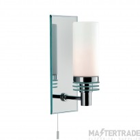 Searchlight 5611-1CC-LED Lima One Light Wall Light In Chrome And Mirrored Glass