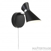 Searchlight 5921BW Diablo One Light Wall Spotlight In Black And White