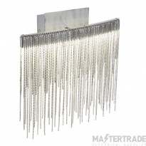 Searchlight 6052SS Memphis Wall Light In Satin Silver With Metal Fringe Shade