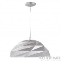 Searchlight 6242SI Origami Ceiling Pendant Light In Metallic Silver