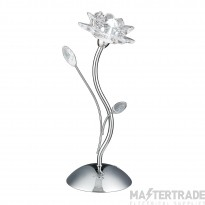 Searchlight 6283CC Bellis Chrome and Glass Flower Table Lamp