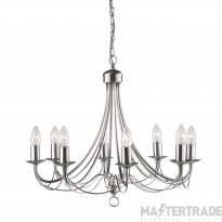 Searchlight 6348-8SS Maypole 8 Light Multi Arm Ceiling Light Silver