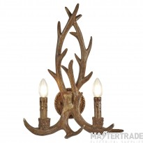 Searchlight Stag 2Lt Antler Wall Bracket