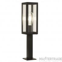 Searchlight 6441-450BK Box One Light Small Garden Post Light In Die Cast Aluminium - Height: 460mm
