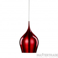 Searchlight 6461-26RE Red Vibrant Metal Ceiling Pendant Light