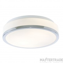 Searchlight 7039-28CC Bathroom Modern Chrome Ceiling Light with Opal Glass