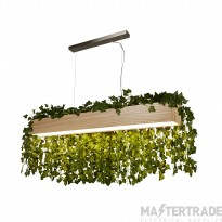 Searchlight 7231 Ash Linear Ceiling Pendant In Natural Wood And Acrylic
