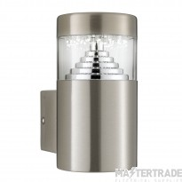Searchlight Brooklyn Led Outdoor Wall Light - Stainless Steel Sq Backplate