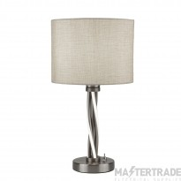 Searchlight Vegas Led Twist Table Light, Satin Silver