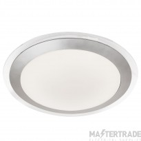 Searchlight 7684-33SI Flush Ceiling Light In Silver With White Acrylic