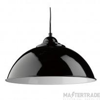 Searchlight 8140BK Sanford 1 Light Ceiling Pendant Light In Black