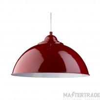 Searchlight 8140RE Sanford 1 Light Ceiling Pendant Light In Red