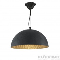 Searchlight 8149GO Dome Black and Gold Ceiling Pendant Light