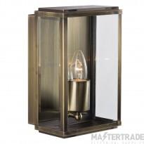 Searchlight 8204AB Outdoor Lighting Antique Brass Finish Glass Lantern