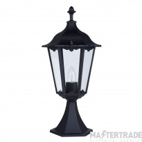 Searchlight 82503BK Alex Outdoor Uplight Post Lamp