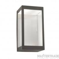 Searchlight Box - Outdoor Led Wall Light, Dark Grey/Clear