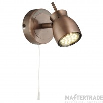 Searchlight 8811CU Single LED Wall Spotlight in Copper