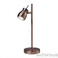 Searchlight 8821-1CU Jupiter 1 Light Table Lamp In Copper