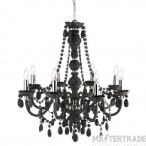 Searchlight 8888-8GY Marie Therese 8 Light Ceiling Pendant Light In Charcoal Grey