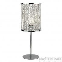 Searchlight Elise 1Lt Table Lamp, Chrome , Crystal Drops