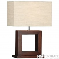 Searchlight 9000 Cosmopolitan Wooden Effect Square Table Lamp