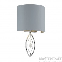 Searchlight 9137CC 1 Light Wall Light In Chrome With Grey Shade