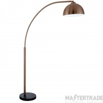 Searchlight 914CU Giraffe Floor Lamp In Copper With Dome Shade