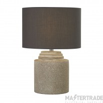 Searchlight Zara Grey Cement Table Lamp  With Grey Shade