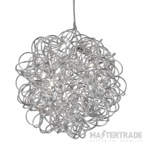 Searchlight 9432 Scribble 6 Light Ceiling Pendant Light In Chrome