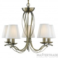 Searchlight 9825-5AB Andretti Antique Brass 5 Light Pendant Ceiling Light