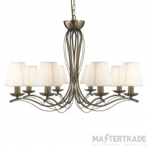 Searchlight 9828-8AB Andretti Antique Brass 8 Light Pendant Ceiling Light