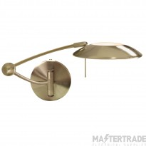 Searchlight 9851AB One Light Swing Arm Dimmable Wall Light In Antique Brass