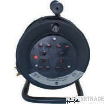 Selectric LGA 4 Gang 13 Amp Heavy Duty Extension Reel - 25 Metre Lead
