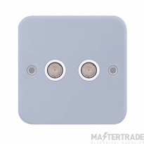Selectric LGA 2 Gang TV / FM Coaxial/Aerial Socket