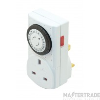 Selectric LGA 24 Hour Plug-In Mechanical Timer Switch with 13 Amp Socket
