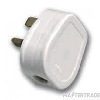 Selectric LGA 3 Amp Fused Plug - White
