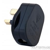 Selectric LGA 13 Amp Fused Plug - Black