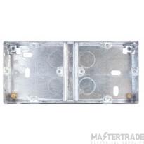 Selectric LGA 2 Gang Galvanised Steel Back Box - 35mm Deep - Dual (2 x 1 Gang)