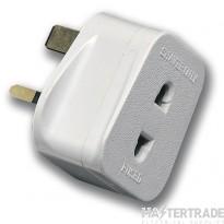Selectric LGA 13 Amp Shaver Plug/Adaptor - Fused 1 Amp - White