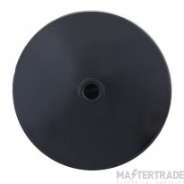 Selectric LGA Ceiling Rose with Flex Clamp - Clear Base - Black