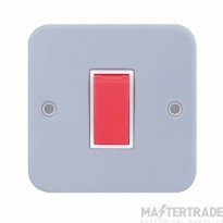 Selectric LGA 45 Amp DP Switch - 1 Gang Plate - Red Rocker